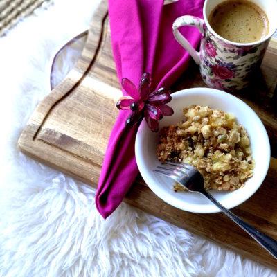Peach Kiwi Crumble…Spring Baking